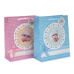 Impresión del bolso del regalo del papel del diseño especial de encargo del bebé con la etiqueta colgante con diverso tamaño con 2 diseños clasificados en embalaje de la llave