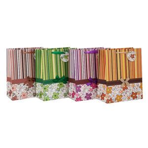 Benutzerdefinierte gedruckt täglichen Verpackung Papiertüte mit Fallumbau mit unterschiedlicher Größe mit 4 Designs in Tongle Verpackung sortiert