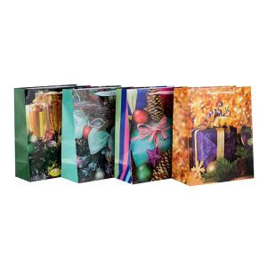 Pappverpacken Frohe Weihnachten Shopping Papiertüte in Tongle Verpackung
