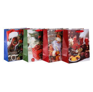 Großhandel Weihnachten Kordelzug Geschenk Papier Verpackung Tasche in Tongle Verpackung