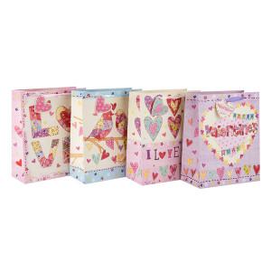 Новый дизайн Love Paper Подарочные сумки и сумки для покупок на День святого Валентина в упаковке Tongle