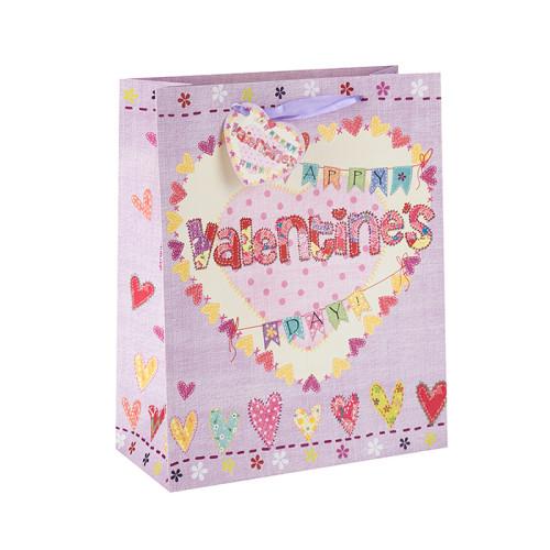 Neue Entwurfs-Liebes-Papiergeschenk-Taschen und -Einkaufstaschen für Valentinstag in der Tongle-Verpackung