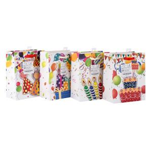 Vente en gros Hot vente carton joyeux anniversaire cadeau papier sac d'emballage en Tongle emballage