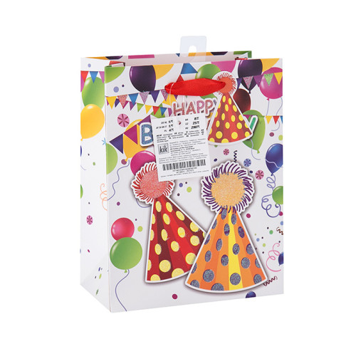 Großhandelsheißes verkaufendes Pappglückliches Geburtstags-Geschenk-Papier-Verpackungs-Beutel in der Tongle-Verpackung
