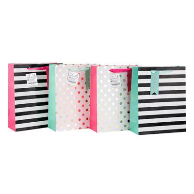 Fabrik-Preis-Fantasie-Entwurfs-Valentinstag-China-Papiertüte mit Fallumbau mit unterschiedlicher Größe mit 4 Entwürfen sortierte in der Tongling-Verpackung
