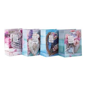 Эко-дружественный материал Пользовательская печать Бумажная подарочная сумка с вешалкой с разным размером с 4-мя дизайнами в ассортименте Tongle Packing