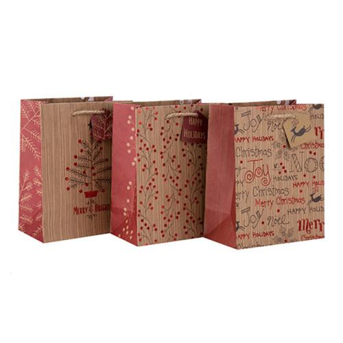 Großes Größen-umweltfreundliches kundenspezifisches Logo-Druckhandgriff-Papiertüte mit Fallumbau mit unterschiedlicher Größe mit 3 Entwürfen sortierte in der Tongle-Verpackung