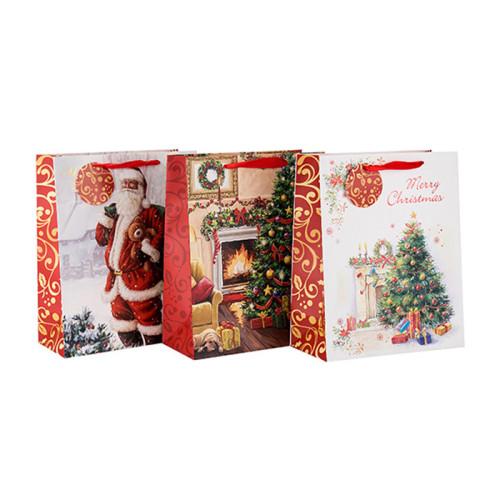 Ursprüngliche Entwurfs-elegante schauende kundenspezifische Größen-Farbfestival-Papier-Geschenktasche mit unterschiedlicher Größe mit 3 Entwürfen sortierte in der Tongle-Verpackung
