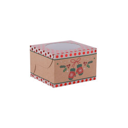 No Glue Assembly By Yourself Folding Gift Boxes Treat Boxes Favor Boxes Chocolate Boxes Made of Brown Kraft Paper With PVC Window In Tongle Packing