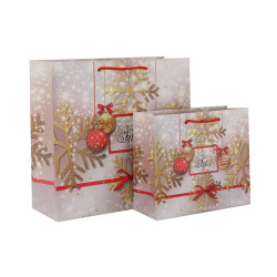Joyeuses Fetes Fashion Design China Gift Paper Bag Manufactures Premium Quality Christmas Paper Shopping Bags In TONGLE PACKING