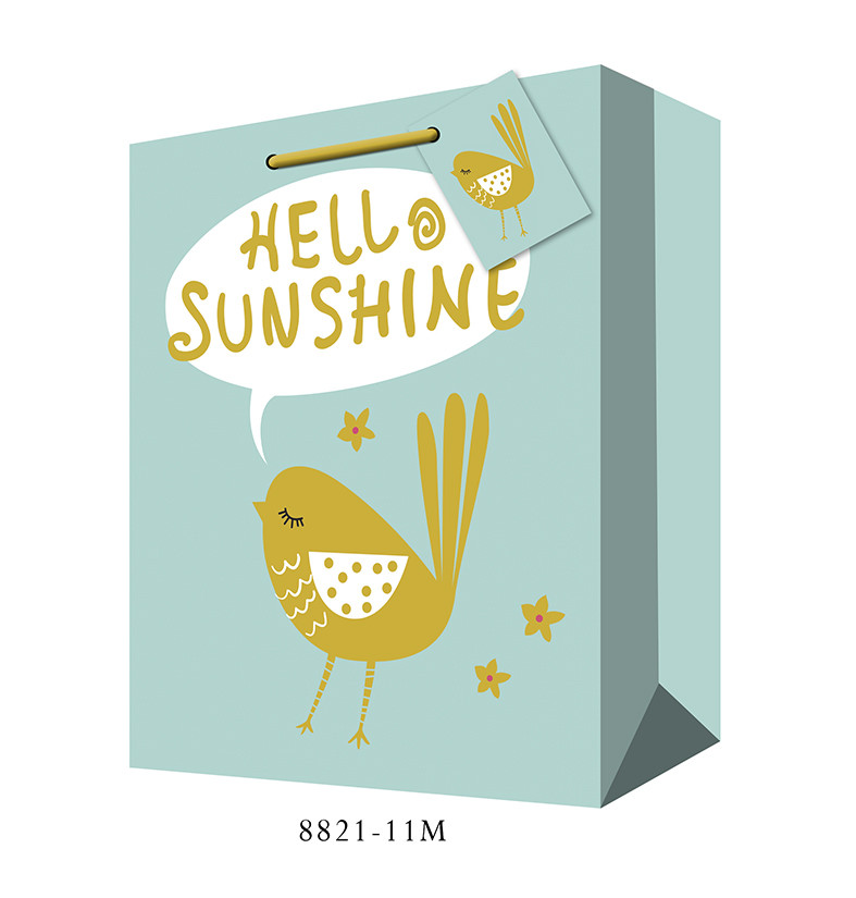 hello sunshine paper shopping bag