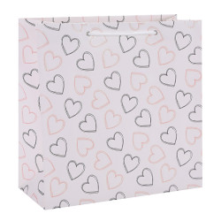 Be Mine Sweetheart Valentine's Day Paper Gift Bags White Kraft Paper Bags Ecofriendly Kraft Paper Shopping Bags In Tongle Packing