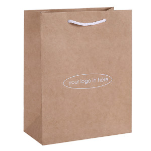 Recyclable Brown Kraft Paper Bags Ecofriendly Brown Craft Paper Shopping Bags Printed With Your Custom Logo in Tongle Packing