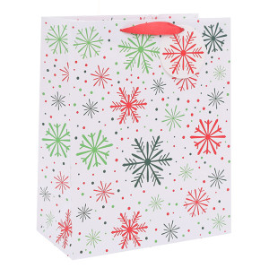 Stunning Designed Snowflakes Christmas Paper Bags Christmas Gift Bags Merry Christmas Paper Shopping Bags In Tongle Packing