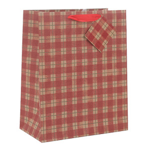 Classic Checks Designs Ecofriendly Brown Kraft Paper Bags Recycled Paper Carry Bags Christmas Paper Bags Christmas Gift Bags Merry Christmas Paper Shopping Bags In Tongle Packing