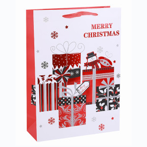Eco-Friendly Nice Printing Decorative Gift Packing Paper Merry Christmas Bag In Tongle Packing