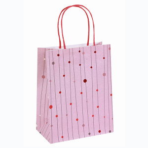 Eco-Friendly White Kraft Paper China Product Paper Gift Bag Unique Fresh Hot Foil Stamping Everydag design Paper Bag Wholesale  In Tongle Packing