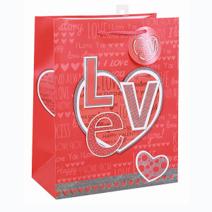 Valentine's Day Custom Paper Gift Bag