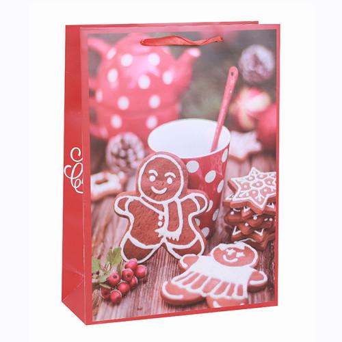 Feliz Navidad Bolsa de papel La mejor venta Impresión de fotos Felices fiestas Papel Bolsas de regalo Bolsas de compras de papel Bolsas de papel con brillo surtidos en empaque de tenazas
