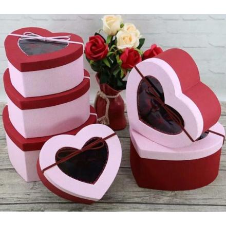 Heart Shape With pvc Window Gift Box