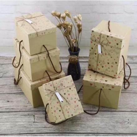 Valentine's Day Recycled Kraft Paper Boxes
