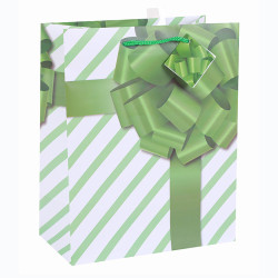 Everyday White Card Paper Custom Big Bow Paper Bag