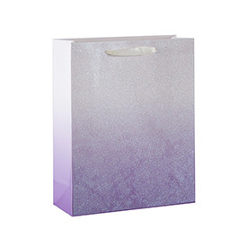 Glittering Gradient Color Paper Gift bags with Glitter