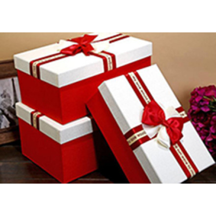 Stock Rectangular Valentine's Day Gift Box