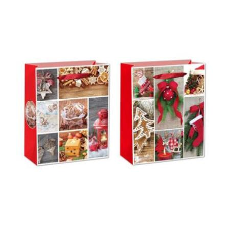 Photo Print Merry Christmas Paper Gift Bag