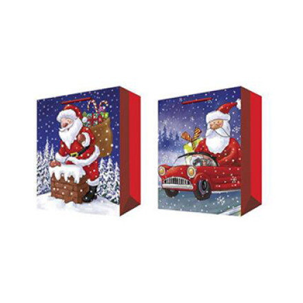 Father Christmas Paper Gift Bag