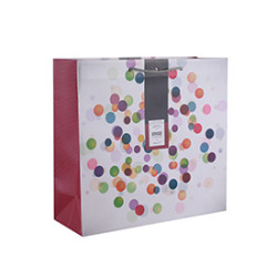 Various Sizes Custom Print Colorful Dots Designs 4 Assorted Gift Paper Bags