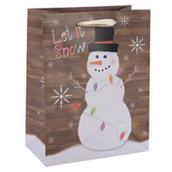 Custom Print Merry Christmas Art Paper Bags Season's Greeting Paper Tote Bags