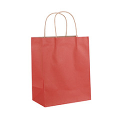 Wholesale recycled nature color solid color brown kraft  paper shopping bags