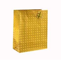 Best Price Laser Solid Color Paper Bag with 4 Designs Assorted