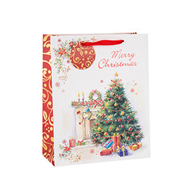Custom Size Christmas Tree Paper Gift Bag with Different Size
