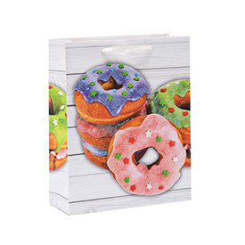 Everyday Sweet Donuts Print Cardboard Paper Gift Bags