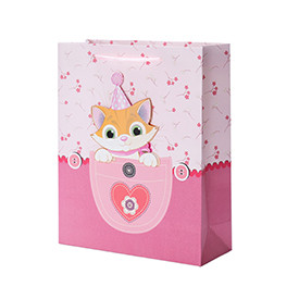 New Baby Boy&Girl Animal Print Paper Gift Bags with 4 designs assorted