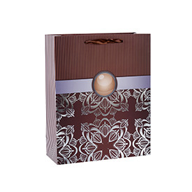 Abstract patterns hot foil stamping paper gift bags with 4 designs assorted