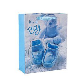 Baby&Kids 3D Glittering Paper Gift Bags with 4 designs assorted