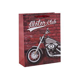 Motorcycle lovers' favorite gift bags made with high quality paper and 4 designs assorted