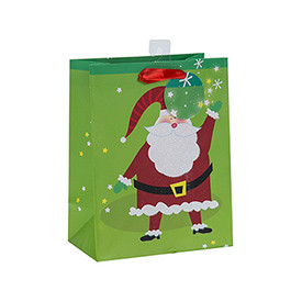 Newest Selling Superior Quality Fancy Design Paper Christmas Gift Bag with 4 Designs Assorted