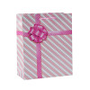 Custom Printed Diagonal Stripe Paper Shopping Gift Bags