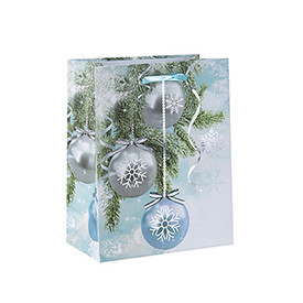 New Coming Attractive Style Paper Christmas Bag on Sale with 3 Designs Assorted