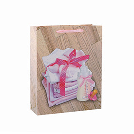 Best Price High Quality Cute Baby Paper Gift Bag with 4 Designs Assorted