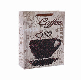 High-Grade Coffee Packing Paper Bag For Coffee Shop with 4 Designs Assorted