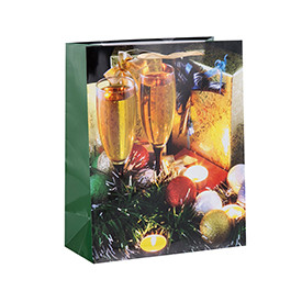 Cardboard Packaging Merry Christmas Shopping Paper Bags