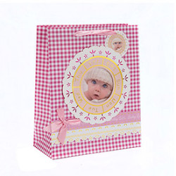 Printing Baby Custom Special Design Paper Gift Bag with Hang Tag with Different Size