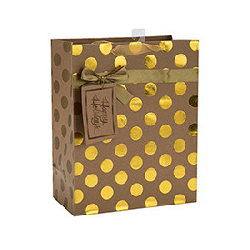 Portable Christmas Gift Packing Beautiful Printing Paper Bag with Different Size with 2 Designs Assorted