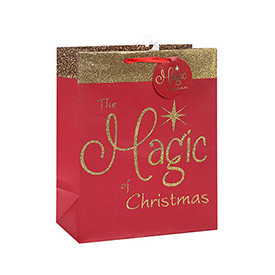 High Quality Paper Bag with Handles Christmas Gift Paper Bag with Different Sizes