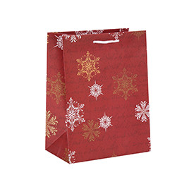 New Design Decorative Hot Stamping Christmas Gift Paper Package Bags